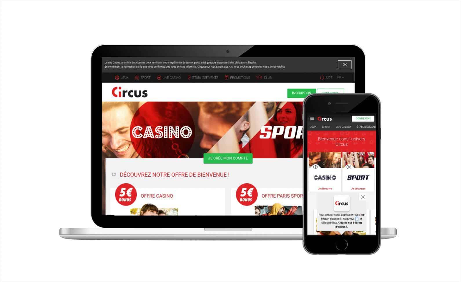 Casino Circus.be